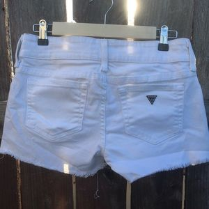 Guess white jean cut off shorts stretchy S 27